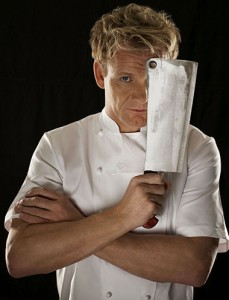 Gordon Ramsay con coltello