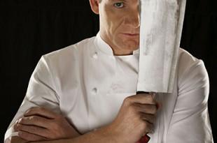 Gordon Ramsay con coltello