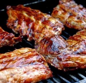 tagli di carne di maiale barbecue