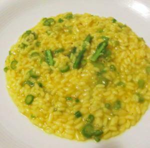 risotto asparagi zafferano