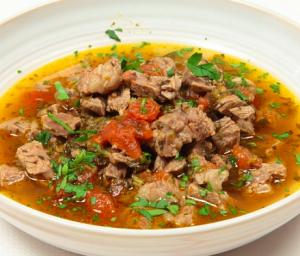 zuppa carne