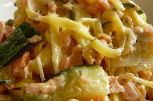 pasta salmone zucchine