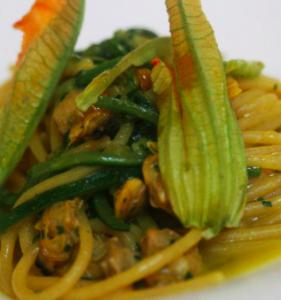spaghetti fiori zucca