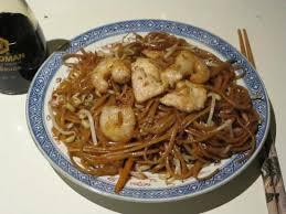 spaghetti pollo e gamberi