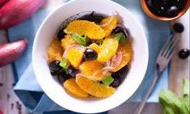 insalata arance e olive nere