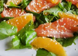 insalata arance salmone e calendula