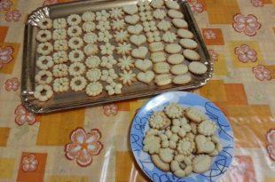 Ricetta dei biscotti salati con la sparabiscotti
